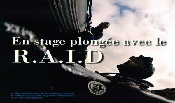 En stage plongée avec les policiers-plongeurs du R.A.I.D
